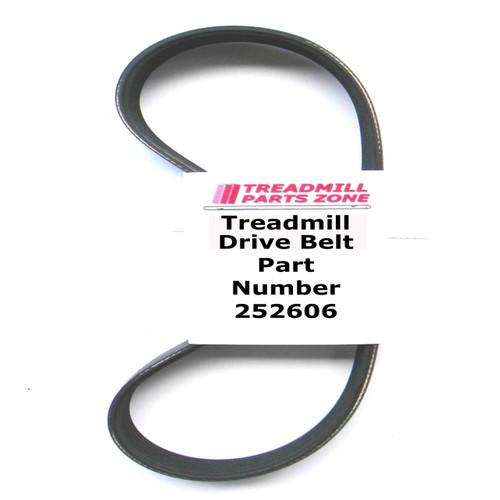 NordicTrack Treadmill Model NTL270050 Motor Belt Part Number 252606