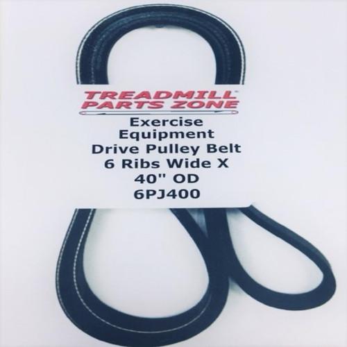 """Exercise Equipment Poly V Drive Belt 6PJ400 6 Ribs Wide X 40"""" Outside Diameter"""