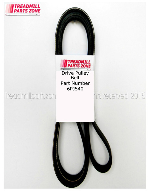 Exercise Equipment Drive Belt Part Number 6PJ540