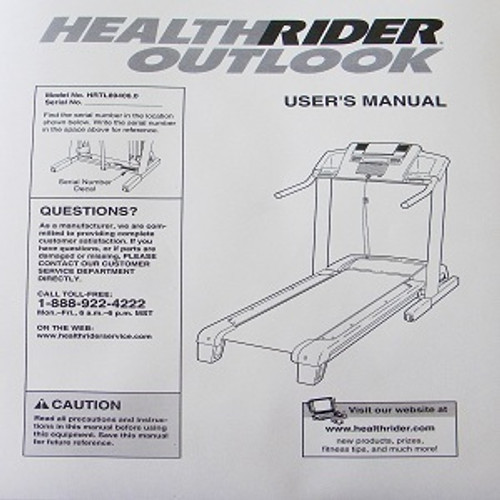 Healthrider Treadmill User's Manual 240622