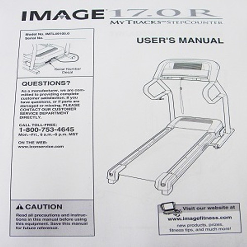 IMAGE Treadmill 17.0R User's Manual 233535