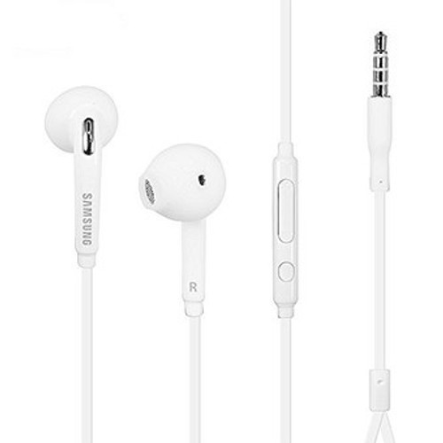 Samsung In-Ear 3.5mm Headset w/ Mic-Volume Control White, Universal