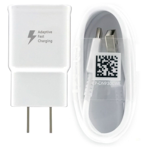 OEM Samsung Galaxy S8 S8+ Adaptive Fast Charger With USB Type C USB White,Retail