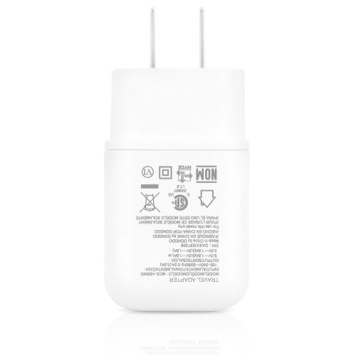 LG Adaptive Fast Charger with Type C USB Cable - White