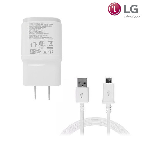 LG 1.8A Micro USB Charger w/Micro USB Cable (White)