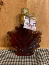 Maple Syrup in Glass Maple Leaf (8.45oz)