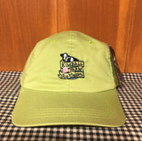 Lime green cotton baseball hat