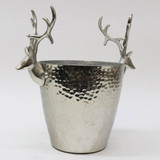 Silver Aluminium Reindeer Wine Bucket by Le Forge