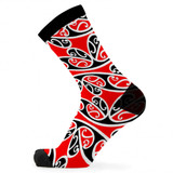 Kowhaiwhai Red Bamboo Socks by Had Socks