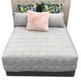 DryLife Pewter Microfibre Boxed End Quilt
