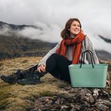 Hinza Green Plastic (Eco Friendly) Bag by Hinza