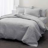 Chantel Grey Throwover Bedspread Set by Savona