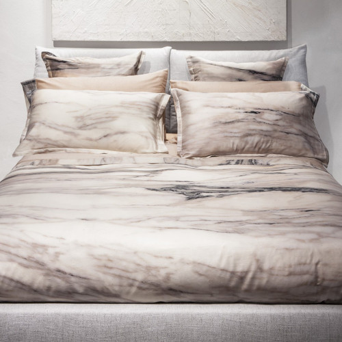 Gold Marble Pillowcase Pair by Tessitura Toscana Telerie
