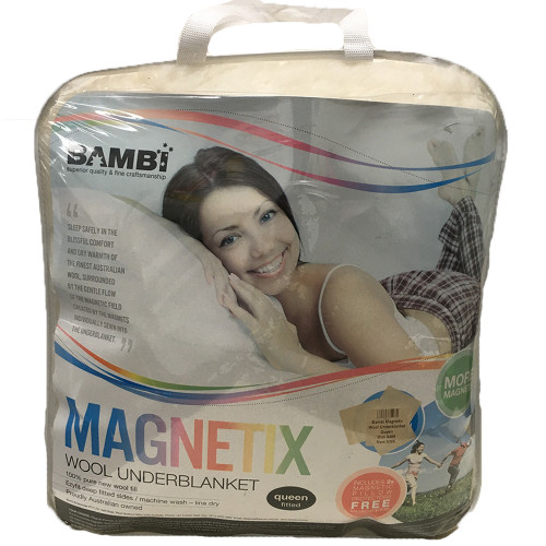 Clearance Queen Magnetix Wool Underblanket by Bambi