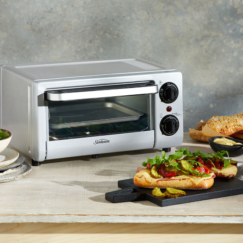 Mini Bake & Grill Compact Oven (COM1000SS) by Sunbeam