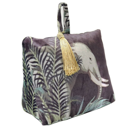 Animal Velvet Doorstop by Le Forge