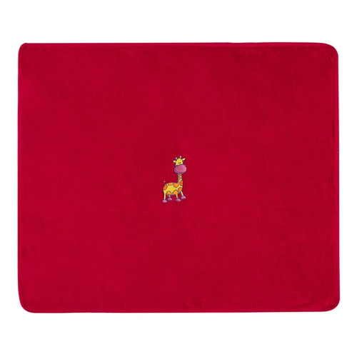 Jeff Giraffe Red Snuggle Rug by Bambury