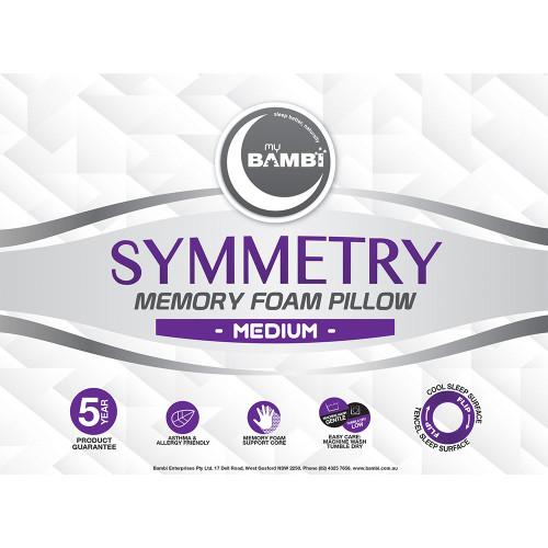 Symmetry Memory Foam Pillow by My Bambi