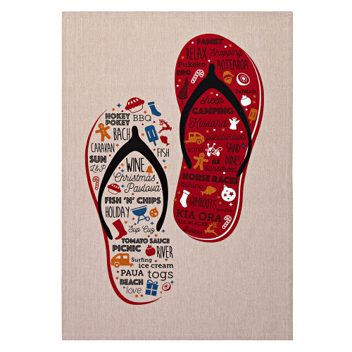 Jandals Tea Towel by Linens & More