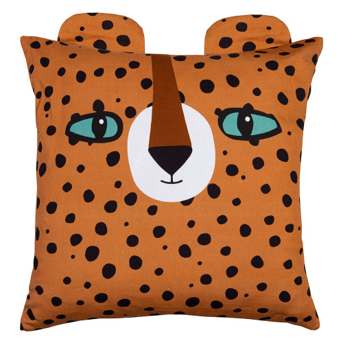 Luca Leopard Kids Cushion by Linens & More
