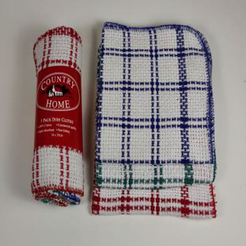 Country Home Waffle Dish Cloth 3 Pack