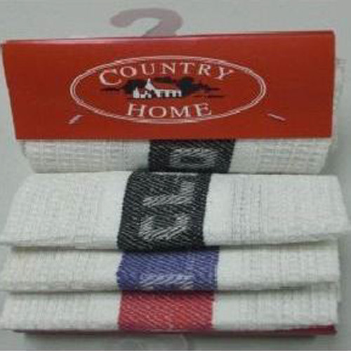 Country Home Jacquard Dish Cloth 3 Pack