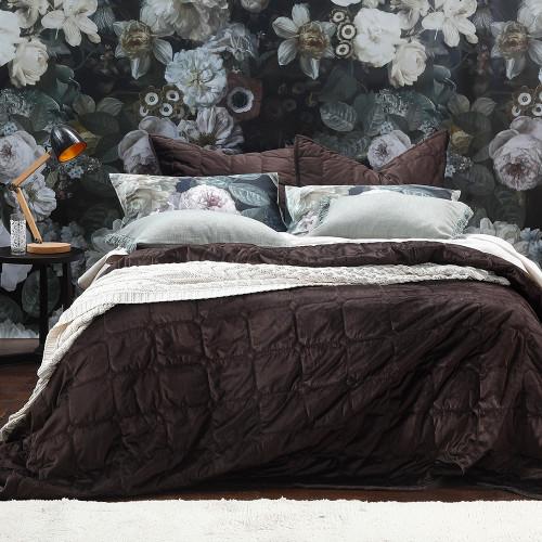 Marta Coffee Bedspread Set by MM Linen