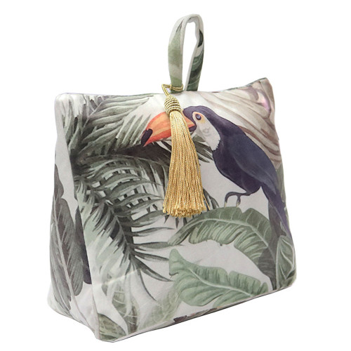 Toucan Velvet Doorstop by Le Forge