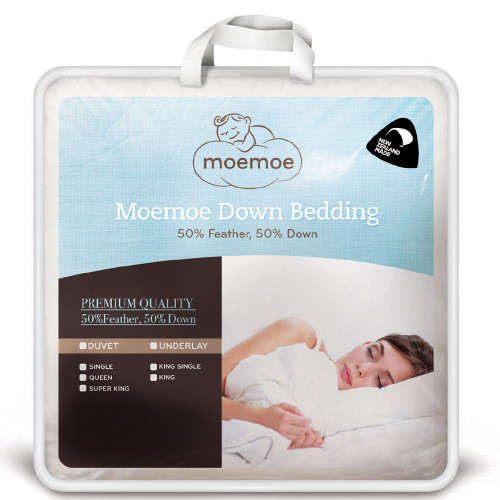 50/50 Feather and Down Duvet Inner by Moemoe