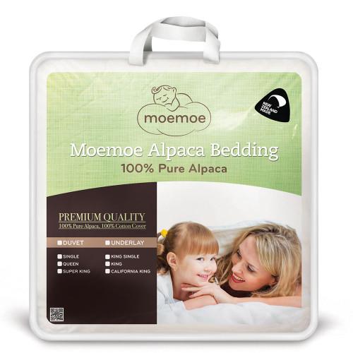100% Pure Alpaca Mattress Topper by Moemoe