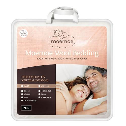 100% NZ Wool Duvet Inner (Winter Weight 500gsm) by Moemoe