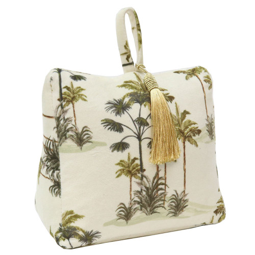 Natural Velvet Palm Tree Doorstop by Le Forge