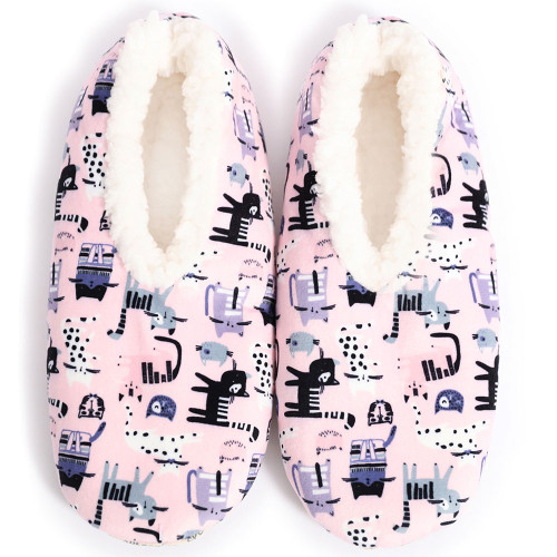 Womens Velvet Kitty Slippers by Sploshies