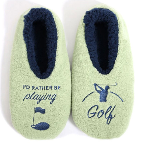 Mens Play Golf Slippers by Sploshies