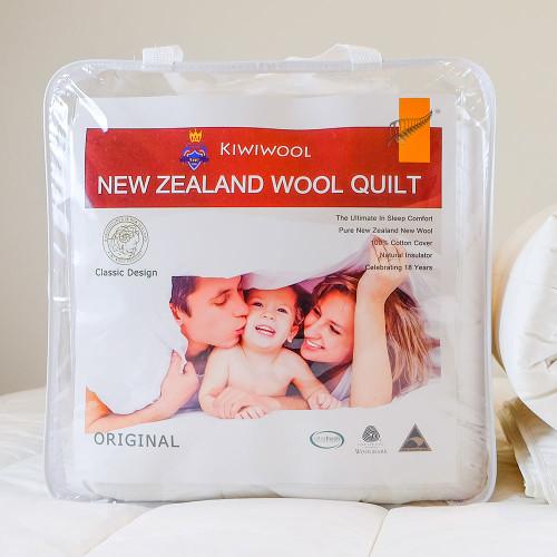 100% NZ Wool Duvet Inner (500gsm) by Kiwi Wool