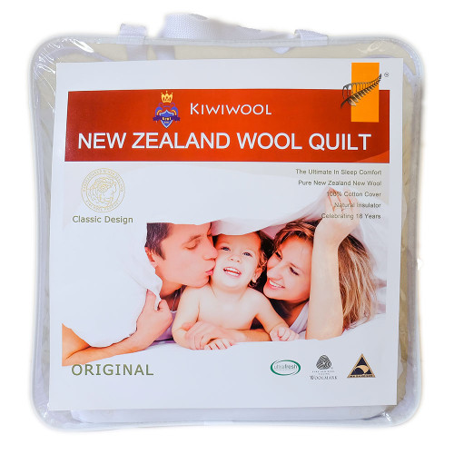 95% NZ Wool Dome Together Duvet Inner (200 + 350gsm) by Kiwi Wool