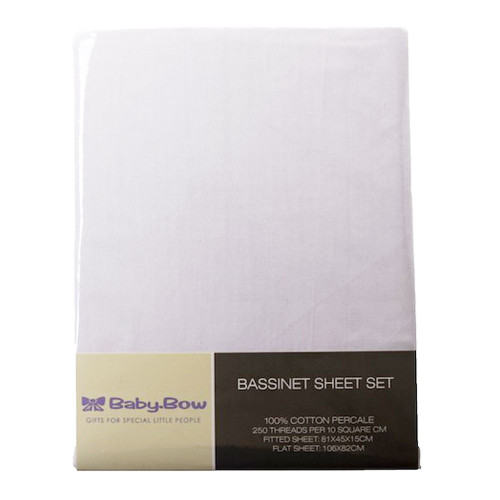 Bassinet Sheet Set by Baby Bow