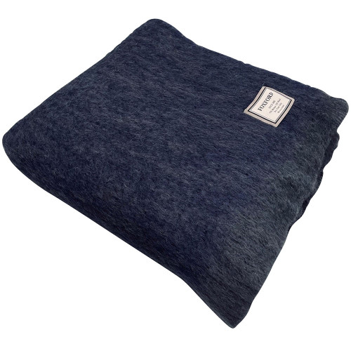 Mohair Ink Throw by Foxford