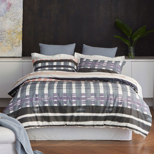 Clearance Queen Corfu Duvet Cover Set by Baksana