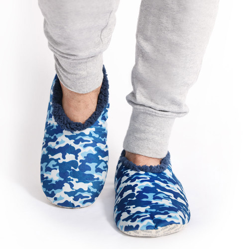 Mens Blue Camo Slippers by Sploshies