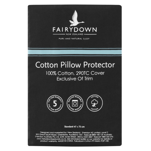 Cotton Standard Pillow Protector by Fairydown