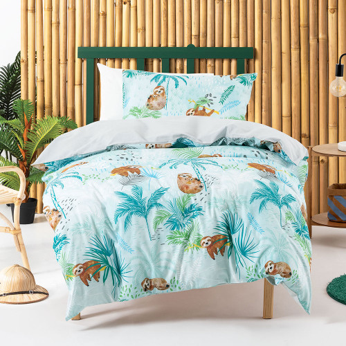 Sleepy Sloth Duvet Cover Set by Squiggles