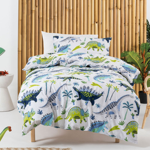Dino Dudes Duvet Cover Set by Squiggles
