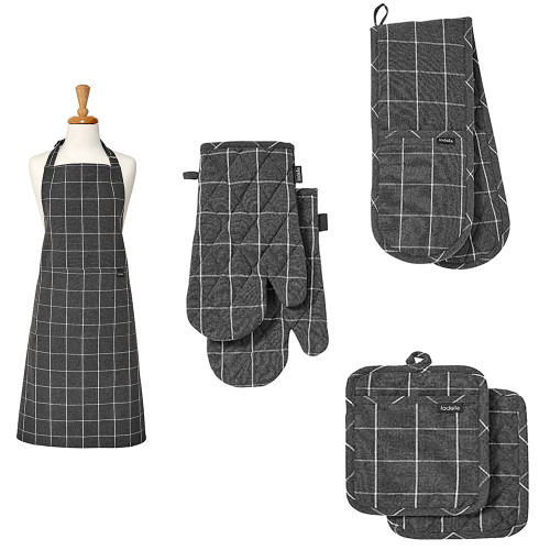 Eco Check Charcoal Kitchen Accessories by Ladelle