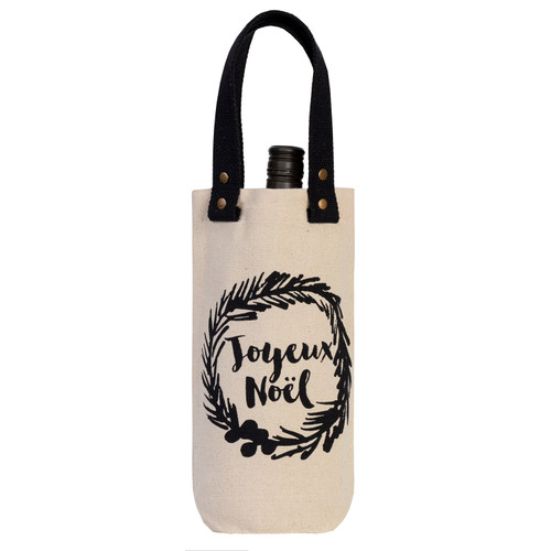 Joyeux Noel Wine Carrier by Linens and More