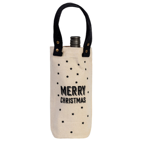 Merry Christmas Wine Carrier by Linens and More