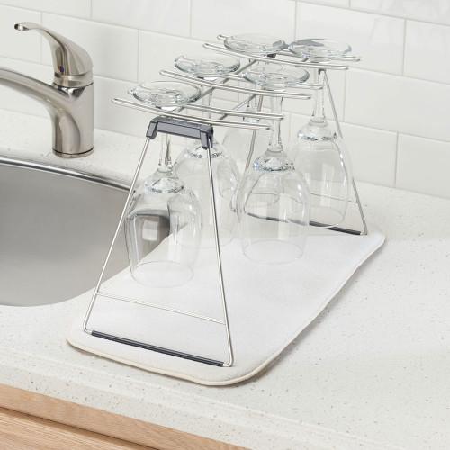 Classico Wine Glass Drying Rack by Interdesign