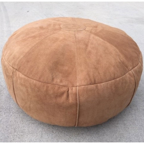 Leather Ottoman by Fibre