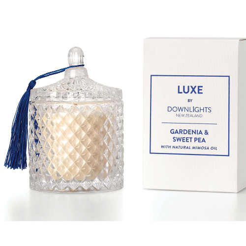 Gardenia and Sweet Pea Luxe Candle by Downlights
