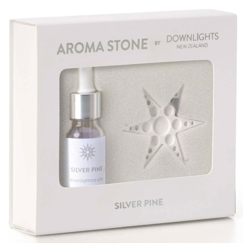 Silver Pine Christmas Star Aroma Stone by Downlights